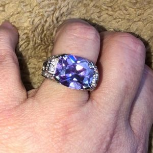 .925 sterling silver purple ice ring